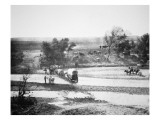 Covered Wagon Crossing Tecolate Creek, New Mexico, 1867 Giclee Print by Alexander Gardner