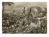 Zulu War: the Etshowe Relief Force Crossing a Stream, April 1879 Giclee Print by William Heysham Overend
