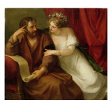 Phryne Seducing the Philosopher Xenokrates, 1794 Lámina giclée por Angelica Kauffmann