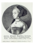 Anne Boleyn, Etched by Wenceslaus Hollar, 1649 Giclee Print by Hans Holbein the Younger