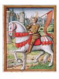 Ms 17 F.76 Joan of Arc from 'Vie Des Femmes Celebres', C.1505 Lámina giclée por French School