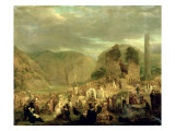 All Souls' Day in the Churchyard at Glendalough Giclee Print by Joseph Peacock