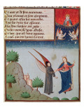 Ms 3045 Fol.94R Lady Philosophy Leads Boethius in Flight into the Sky on the Wings Giclee Print by  French School