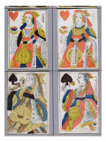 Queen of Spades and Queen of Hearts Playing Cards, 17th - 18th Century Giclee Print by  French School