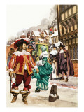 The Wonderful Story of Britain: When Clothes Were Fine and Splendid Giclee Print by Peter Jackson