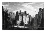 Old Tolbooth Edinburgh, Engraved by Edward Finden Premium Giclee Print by Alexander Nasmyth