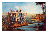 The Landing of Christopher Columbus in the New World Giclee Print by Frederick Kemmelmeyer