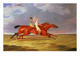 "Acteon Beating ""Memnon"" in the Great Subscription Purse at York, August 1826 Giclee Print by John Frederick Herring Snr"
