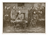 Surrender of General Lee, from a Book Pub. 1896 Giclee Print by Alfred Rudolf Waud