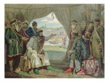 The Convention of Princes with Grand Duke Vladimir Monomakh Ii Giclee Print by Aleksei Danilovich Kivshenko