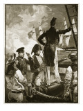 Captain Walpole Intercepting the Duke of Saldanha&#39;s Ships Giclee Print by William Heysham Overend