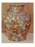 Famille Rose Vase with a Mille Fleurs Decoration, Qianlong Dynasty, 1736-96 Giclee Print by Chinese School 