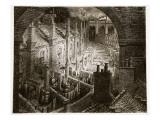 Over London - by Rail, from 'London, a Pilgrimage', Written by William Blanchard Jerrold Reproduction procédé giclée par Gustave Doré
