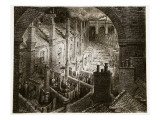 Over London - by Rail, from 'London, a Pilgrimage', Written by William Blanchard Jerrold Giclee Print by Gustave Doré