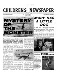 Mystery of the Monster, Front Page of 'The Children's Newspaper', March 1963 Giclee Print by English School