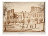View of the Colosseum from the Side of St. John Lateran, 1833 Giclee Print by Agostino Tofanelli