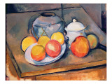 Straw-Covered Vase, Sugar Bowl and Apples, 1890-93 Giclee Print by Paul Cézanne