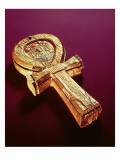 Mirror Case in the Form of an Ankh, from the Tomb of Tutankhamun Premium Giclee Print by  Egyptian 18th Dynasty