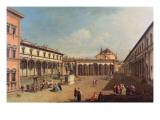 Piazza Della Santissima Annunziata, Florence Giclee Print by Bernardo Bellotto