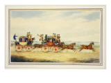 The Royal Union Coach Passing the Alexander Leeds Coach Giclee Print by James Pollard
