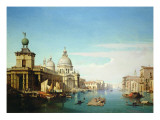 Entrance to the Grand Canal, Venice, with the Church of Santa Maria Della Salute Lámina giclée por Jules Romain Youant