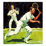 King George Vi Played in the Men's Doubles at Wimbledon in 1926 Giclee Print by  McConnell