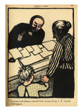 A Woman and Child Hand over their Savings to the Priest Giclee Print by Félix Vallotton