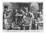 The Invention of Copper Engraving, Plate 20 from 'Nova Reperta' Premium Giclee Print by Jan van der Straet