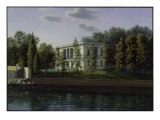 The New Pavilion in the Gardens of Charlottenburg Palace, C.1824-25 Giclee Print by Johann Wilhelm Gottfried Barth