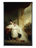 A Group Portrait of the Hon. Mrs Grenfell and Her Son Pascoe St Leger Giclee Print by John Hoppner