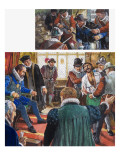 Guy Fawkes Was Brought before King James and His Council, But Refused to Reveal the Names Giclee Print by Clive Uptton