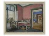 Writing Cabinet of the Crown Princess in the Charlottenhof Palace, Berlin Giclee Print by  German School