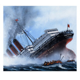 Sink on Sight, the Story of the Submarine, 1981 Giclee Print by Mike Tregenza
