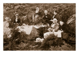 Gladstone Picnicking at Black Craig Castle, Print by J. Valentine, 1893 Giclee Print by  English Photographer
