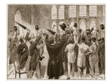 Meeting of Jingoes in Guildhall, London, 1878 Giclée-tryk af William Barnes Wollen