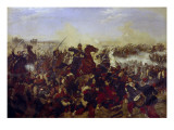 The Battle of Mars De La Tour on the 16th August 1870, 1878 Giclee Print by Emil Huenten