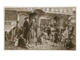 The Origin of Sunday Schools: Hare Lane, Gloucester, 1780 Giclee Print by Robert Dowling