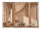 Interior of the Colonnade of St. Peter's Square, 1833 Giclee Print by Agostino Tofanelli