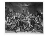 Scene in a Gaming House, Plate Vi from 'A Rake's Progress' Premium Giclee Print by William Hogarth