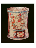 Cylindrical Vessel Depicting a Deity with Speech Curls Giclee Print by  Mayan