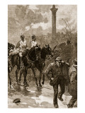 Bloody Sunday: the Life Guards Holding Trafalgar Square, 1887 Giclee Print by William Barnes Wollen