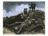 Into Battle, the Arrows Fell Like Snow', 1963 Giclee Print by Ron Embleton
