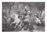 Death of Patrick Ferguson at the Battle of King's Mountain, 7 October 1780 Premium Giclee Print by  American School
