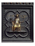 Faith, Panel B of the South Doors of the Baptistery of San Giovanni, 1336 Giclee Print by Andrea Pisano