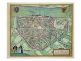 Map of Nijmegen, from 'Civitates Orbis Terrarum' by Georg Braun Giclee Print by Joris Hoefnagel