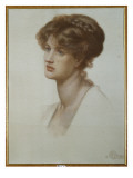 Portrait of Mrs. William J. Stillman, Bust Length, 1869 Premium Giclee Print by Dante Gabriel Rossetti