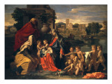 The Holy Family with the Infant St. John the Baptist and St. Elizabeth Giclee Print by Poussin