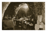 Cave-Dwellings on the English Coast Used as Air-Raid Shelters, 1940 Giclee Print by English Photographer