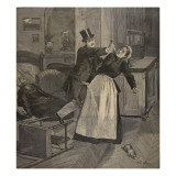 Two Women Stabbed in the Throat on Boulevard Du Temple Giclee Print by Beltrand and Clair-Guyot, E. Dete