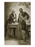 Prince Charles Appeals to Cameron of Lochiel Giclee Print by Herbert James Draper